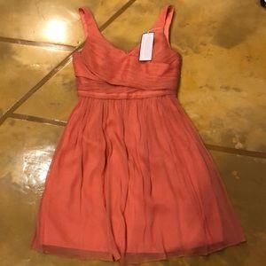 Jcrew coral chiffon dress